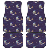 Sleeping Sea Lion Pattern Front and Back Car Mats