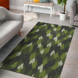 Christmas Tree Camo Pattern Area Rug