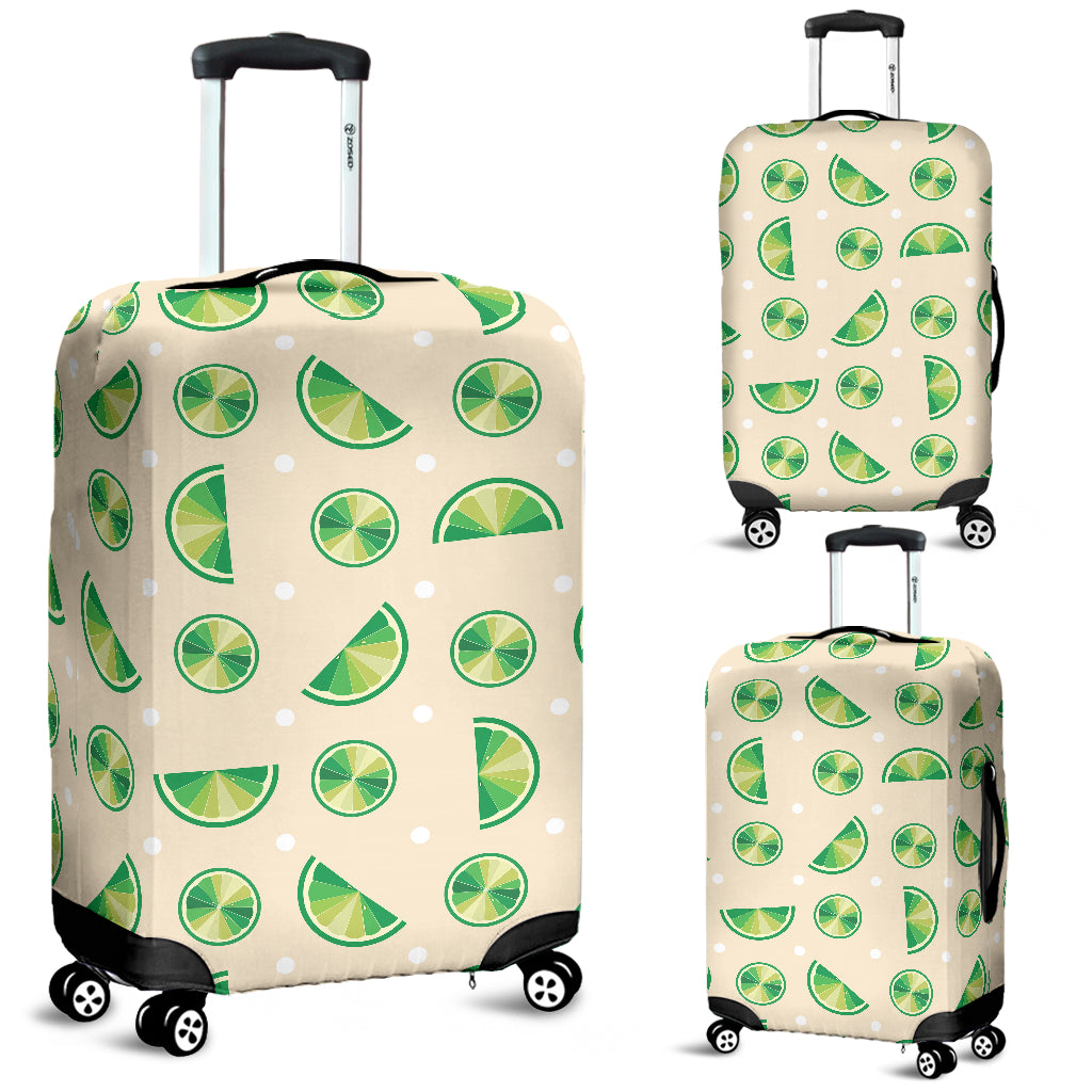 Lime Pattern Luggage Covers