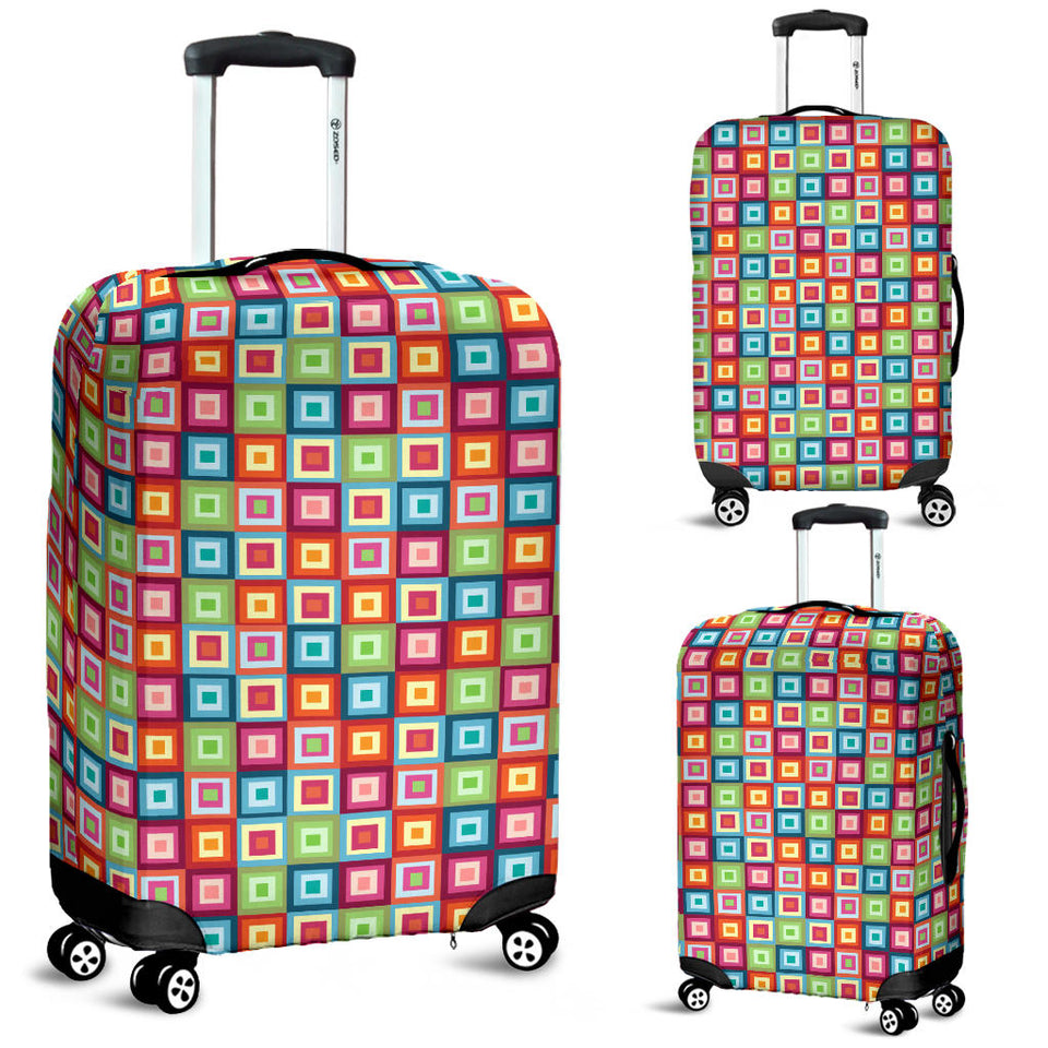 Rainbow Rectancular Pattern Luggage Covers
