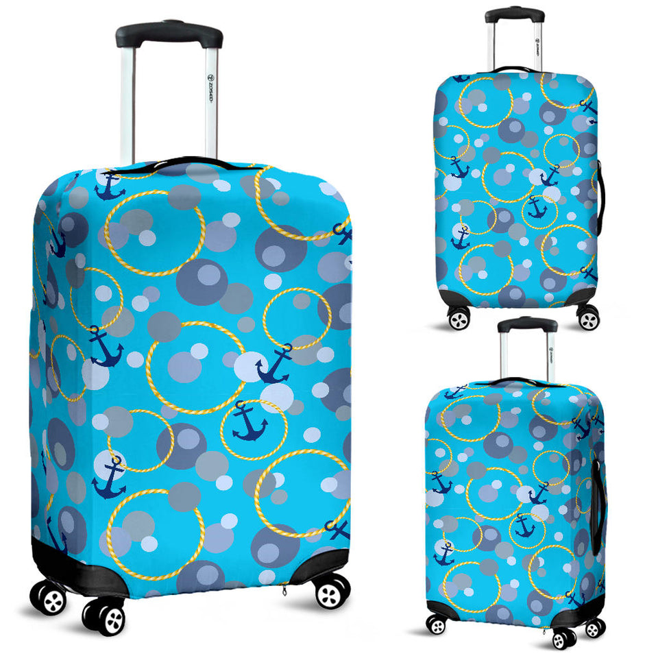 Anchor Circle Rope Pattern Luggage Covers