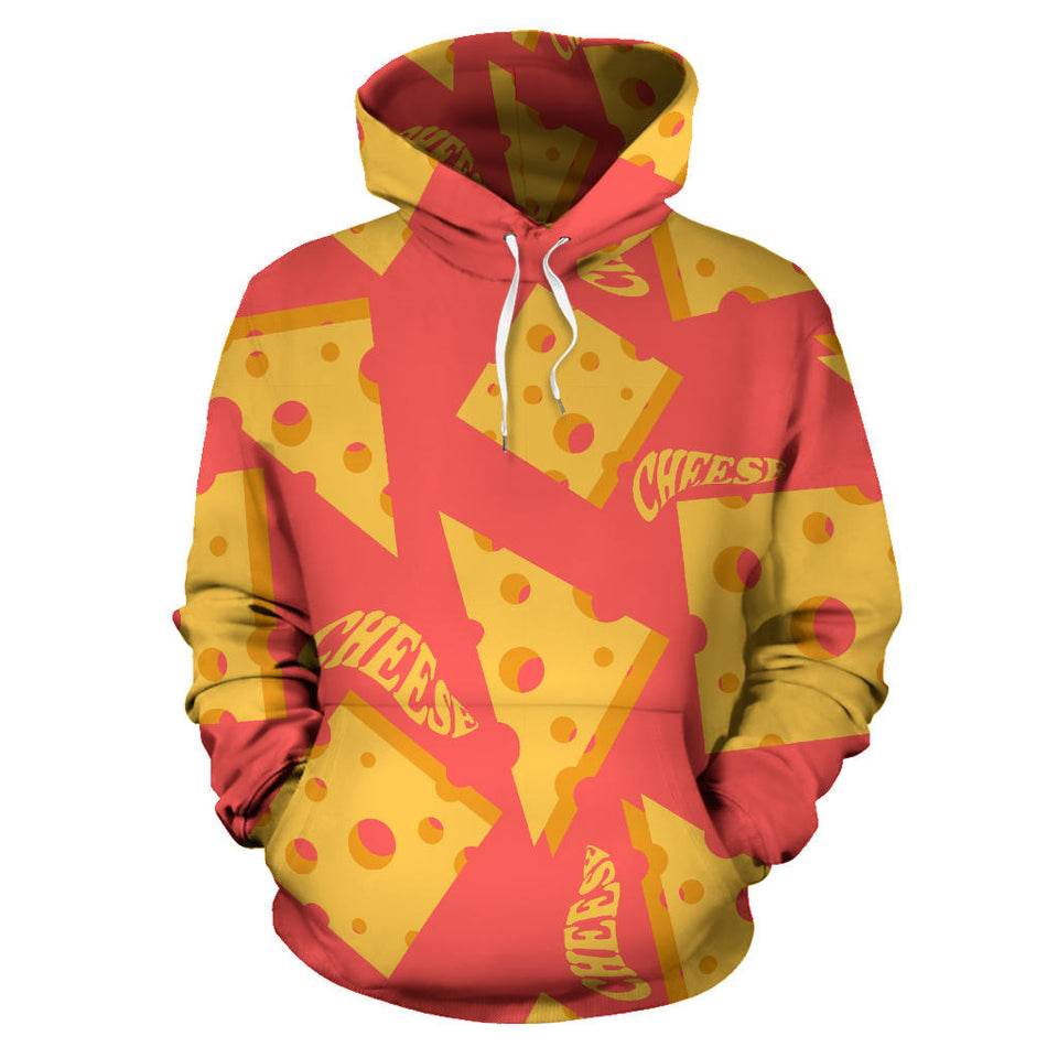 Sliced Cheese Pattern  Pullover Hoodie