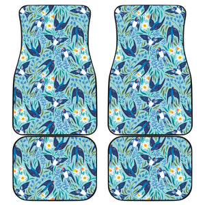 Swallow Pattern Print Design 05 Front and Back Car Mats