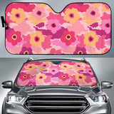 Pink Camo Camouflage Flower Pattern Car Sun Shade