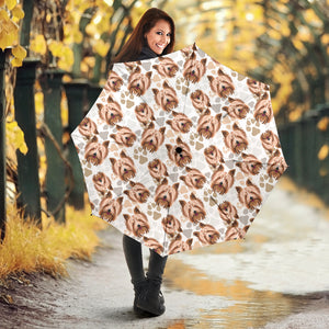 Yorkshire Terrier Pattern Print Design 04 Umbrella