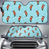 Otter Heart Pattern Car Sun Shade