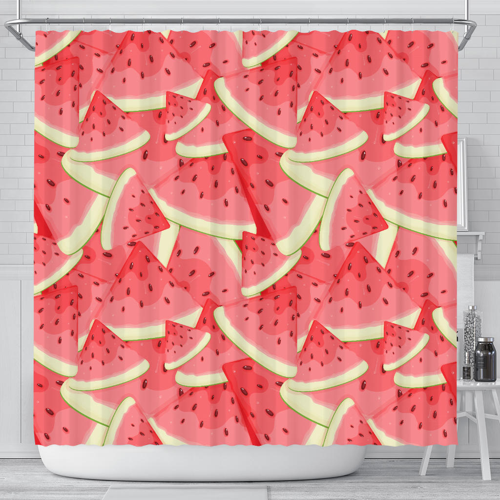 Watermelon Pattern Background Shower Curtain Fulfilled In US