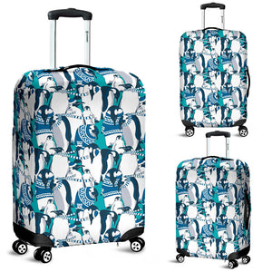 Penguin Pattern Luggage Covers