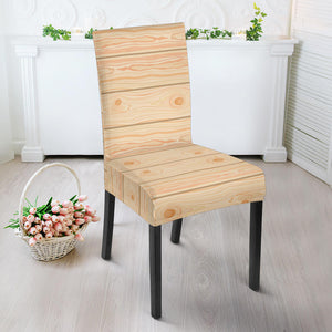 Wood Printed Pattern Print Design 05 Dining Chair Slipcover
