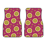 Sliced Passion Fruit Pattern Front Car Mats
