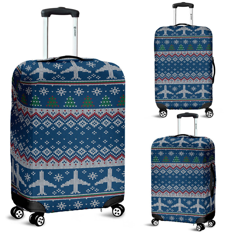 Airplane Sweater printed Pattern Luggage Covers