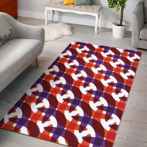 Boomerang Pattern Background Area Rug