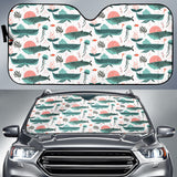 Whale Jelly Fish Pattern  Car Sun Shade