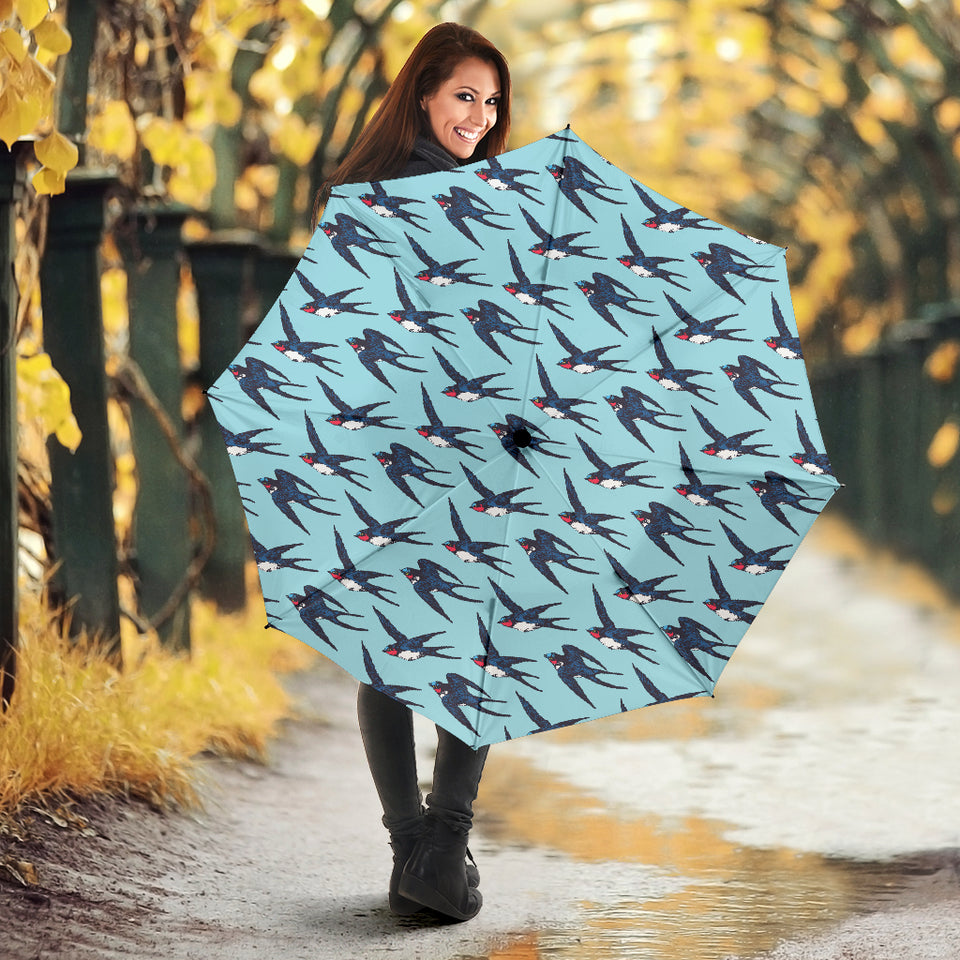 Swallow Pattern Print Design 01 Umbrella