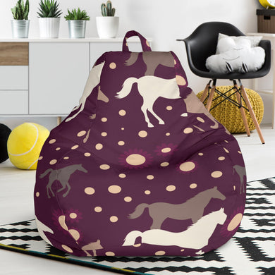 Horse Pattern Background Bean Bag Chair