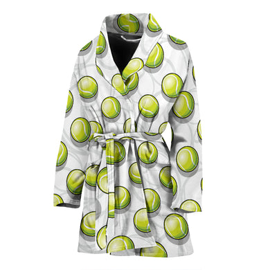 Tennis Pattern Print Design 05 Women Bathrobe