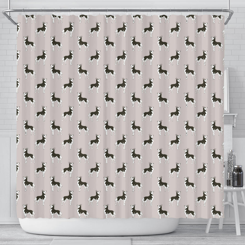 Siberian Husky Pattern Background Shower Curtain Fulfilled In US