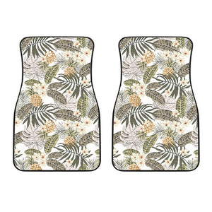 Pineapple Leave flower Pattern Front Car Mats