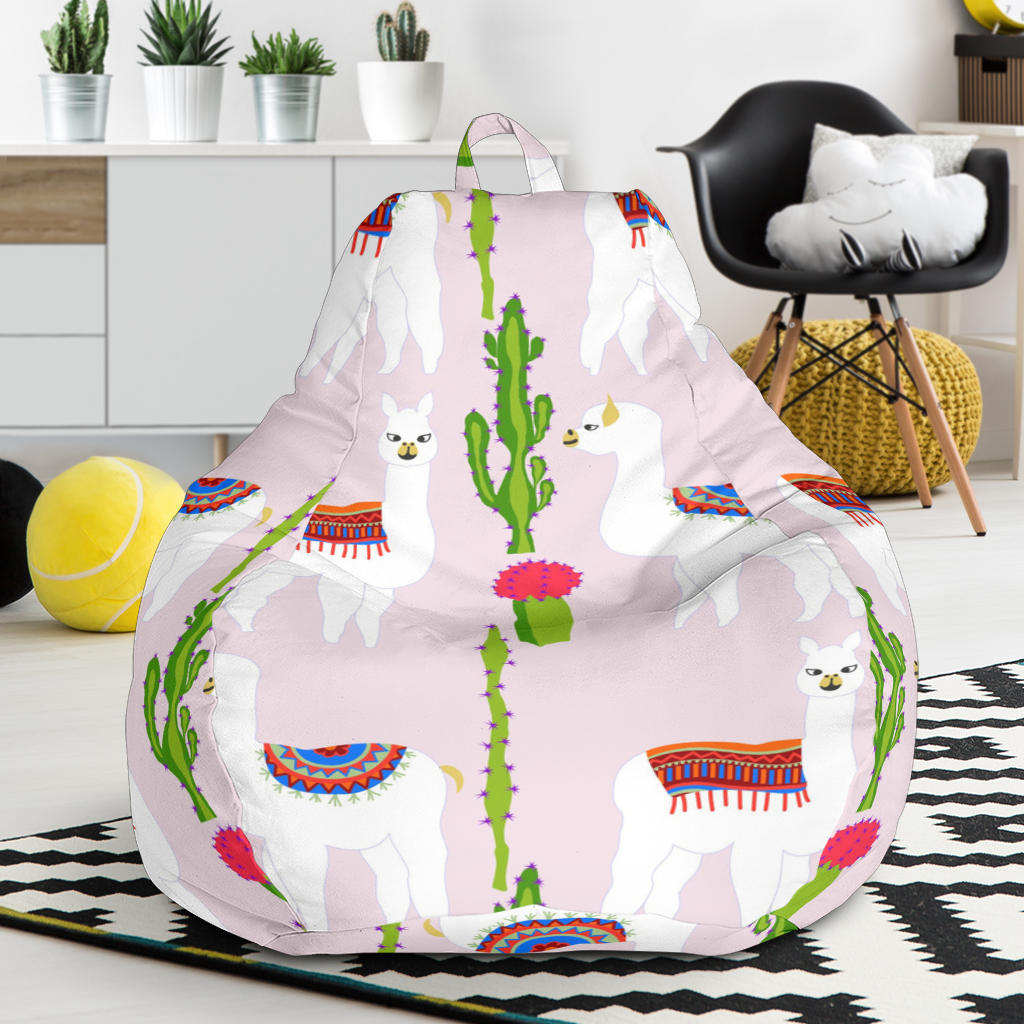 Llama Cactus Pattern Bean Bag Chair