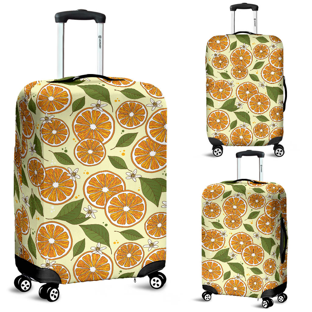 Sliced Orange Leaves  Pattern Luggage Covers