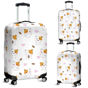 Hamster Seed Heart Pattern Luggage Covers