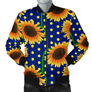 Sunflower Pokka Dot Pattern Men Bomber Jacket