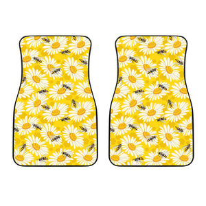 Bee Daisy Pattern Front Car Mats