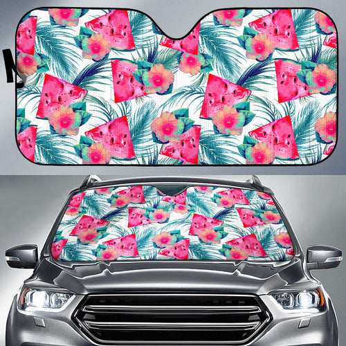 Watermelon Flower Pattern Car Sun Shade