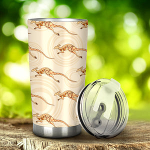 Kangaroo Aboriginal Pattern Background Tumbler