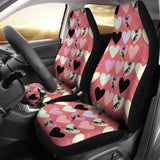 Chihuahua Heart Pink Pattern Universal Fit Car Seat Covers