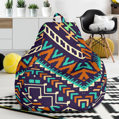 Zigzag Chevron African Afro Dashiki Adinkra Kente Pattern Bean Bag Chair