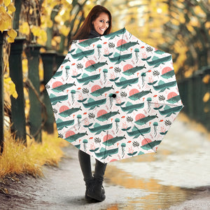 Whale Jelly Fish Pattern  Umbrella