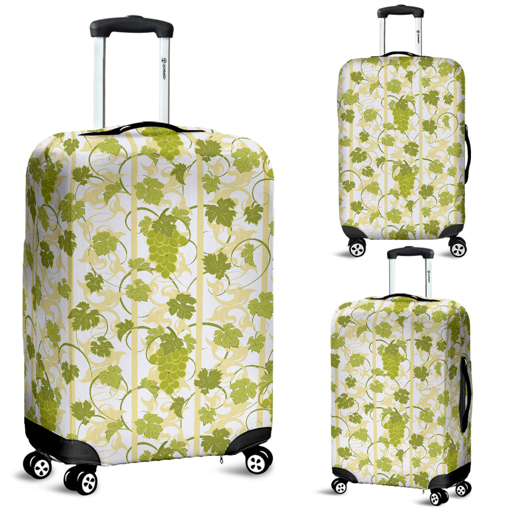 Grape Pattern Background Luggage Covers