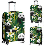 Panda Bamboo Flower Pattern  Luggage Covers