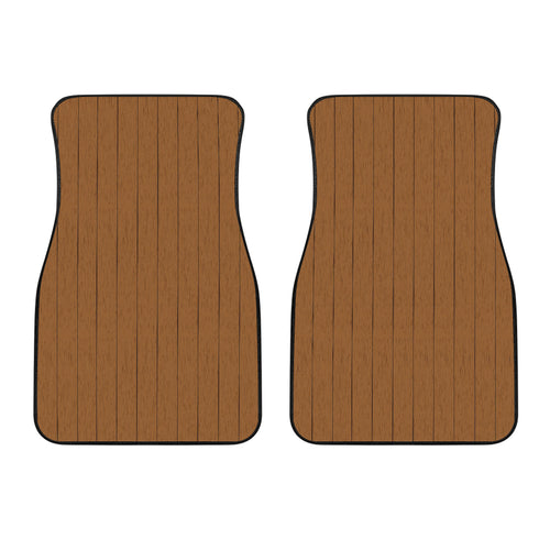 Wood Printed Pattern Print Design 03 Front Car Mats