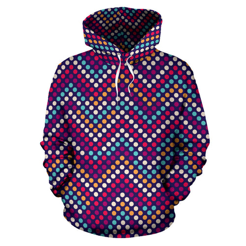 Zigzag Chevron Pokka Dot Aboriginal Pattern Men Women Pullover Hoodie