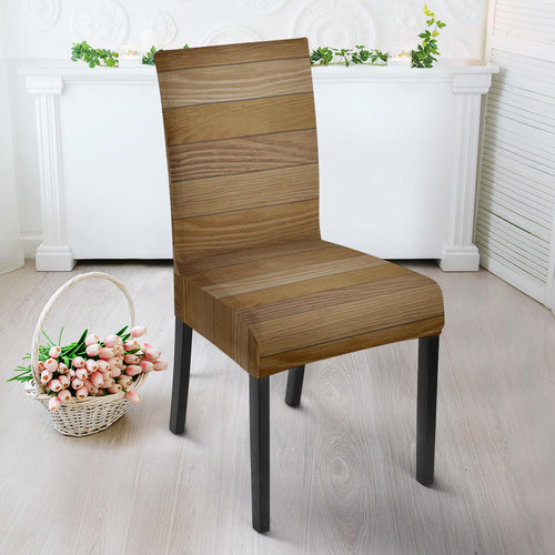 Wood Printed Pattern Print Design 02 Dining Chair Slipcover