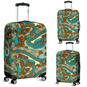 Coffee Bean Pattern Graphic Ornate Luggage Covers