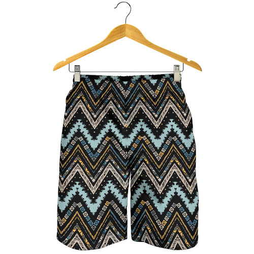 Zigzag Chevron African Afro Dashiki Adinkra Kente Men Shorts