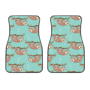 Sloth Mom and baby Pattern Front Car Mats
