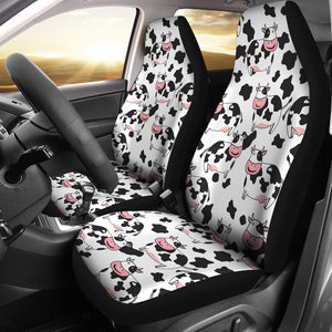 Cute Cow Pattern Universal Fit Car Seat Covers
