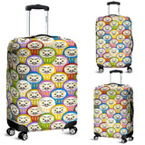 Colorful Daruma Pattern Luggage Covers