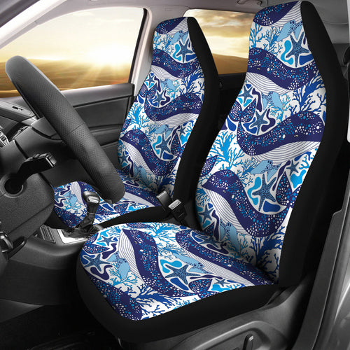 Whale Starfish Pattern Universal Fit Car Seat Covers