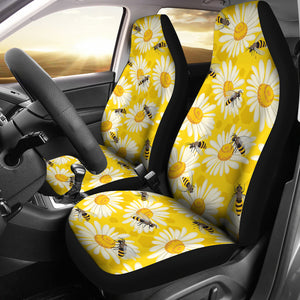 Bee Daisy Pattern Universal Fit Car Seat Covers