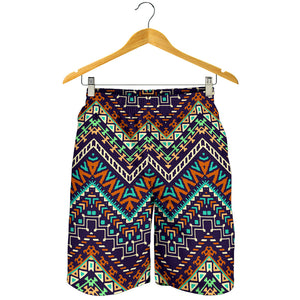 Zigzag Chevron African Afro Dashiki Adinkra Kente Pattern Men Shorts