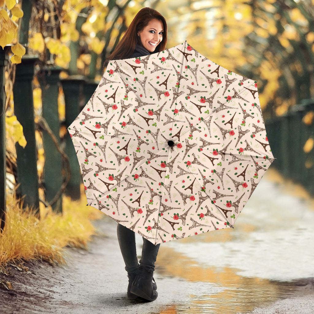 Eiffel Tower Pattern Print Design 03 Umbrella