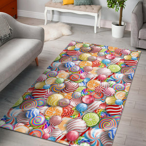 Candy Lollipop Pattern Area Rug