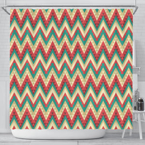 Zigzag Chevron Pattern Shower Curtain Fulfilled In US