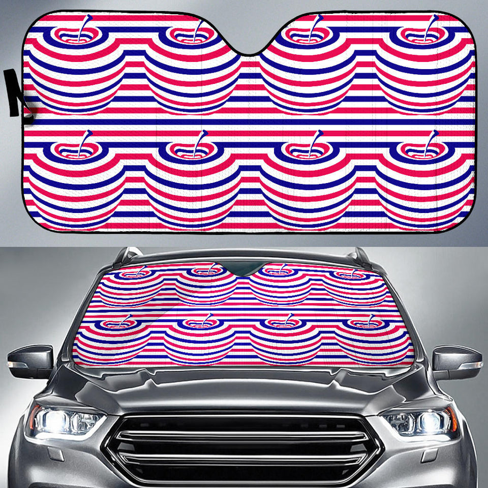 Apple USA Pattern Car Sun Shade
