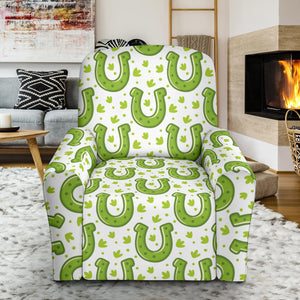Horseshoes Pattern Print Design 02 Recliner Chair Slipcover